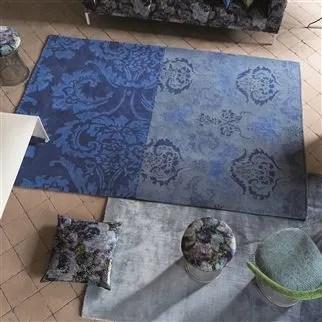 how to clean my fabric sofa square pillows kashgar indigo rug | designers guild