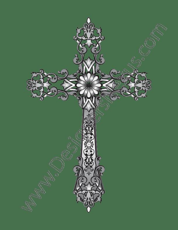 Fashion Design Vector Graphic V2 Heraldic Cross with