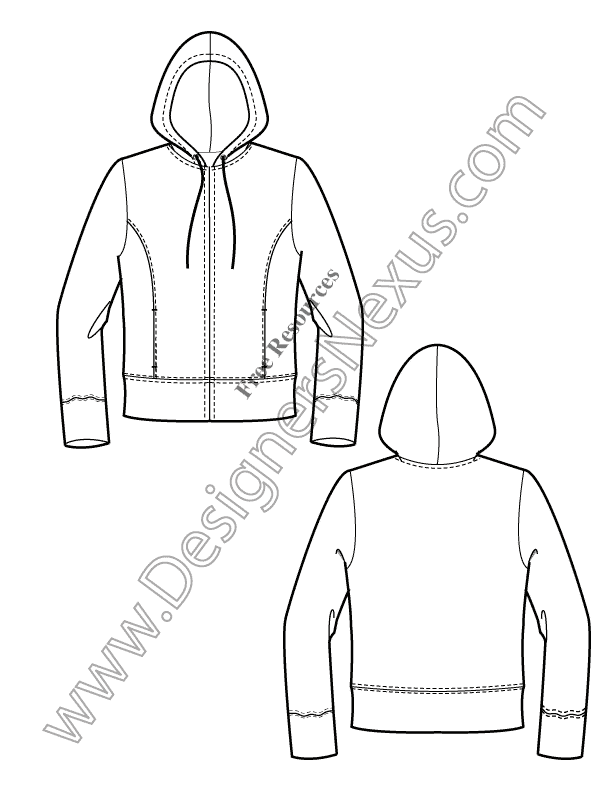 Free Knitwear Illustrator Flat Sketches: Knits & Sweater