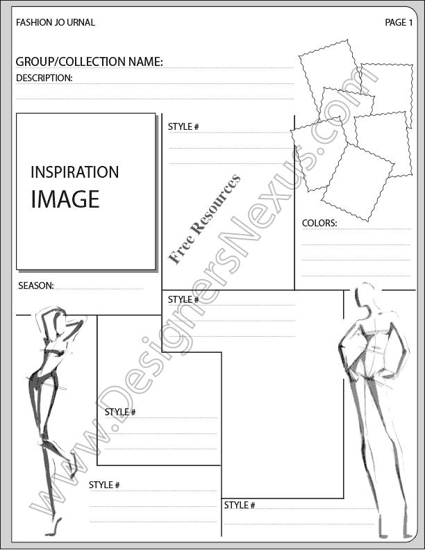 V16 Fashion Presentation Layout for Fashion Sketchbook