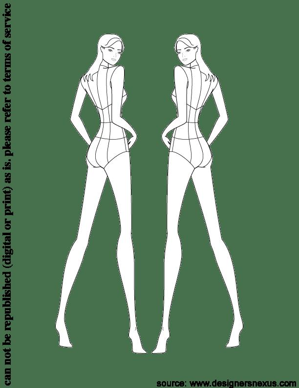 famous fashion figure templates