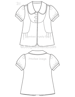 Free Illustrator Fashion Templates: Jacket Flat Sketches