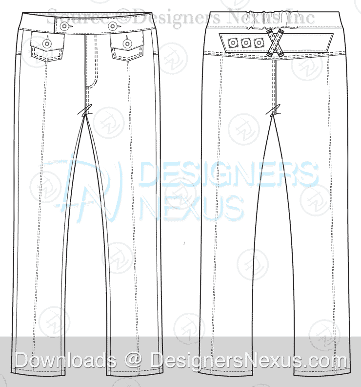 Technical Fashion Drawing: 250+ Free Vector Flat Fashion