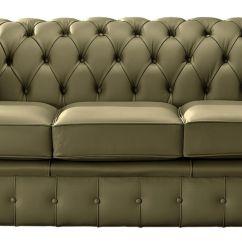 Sage Leather Sofa Beautiful Sets Chesterfield 3 Seater Designersofas4u Handmade Shelly Settee