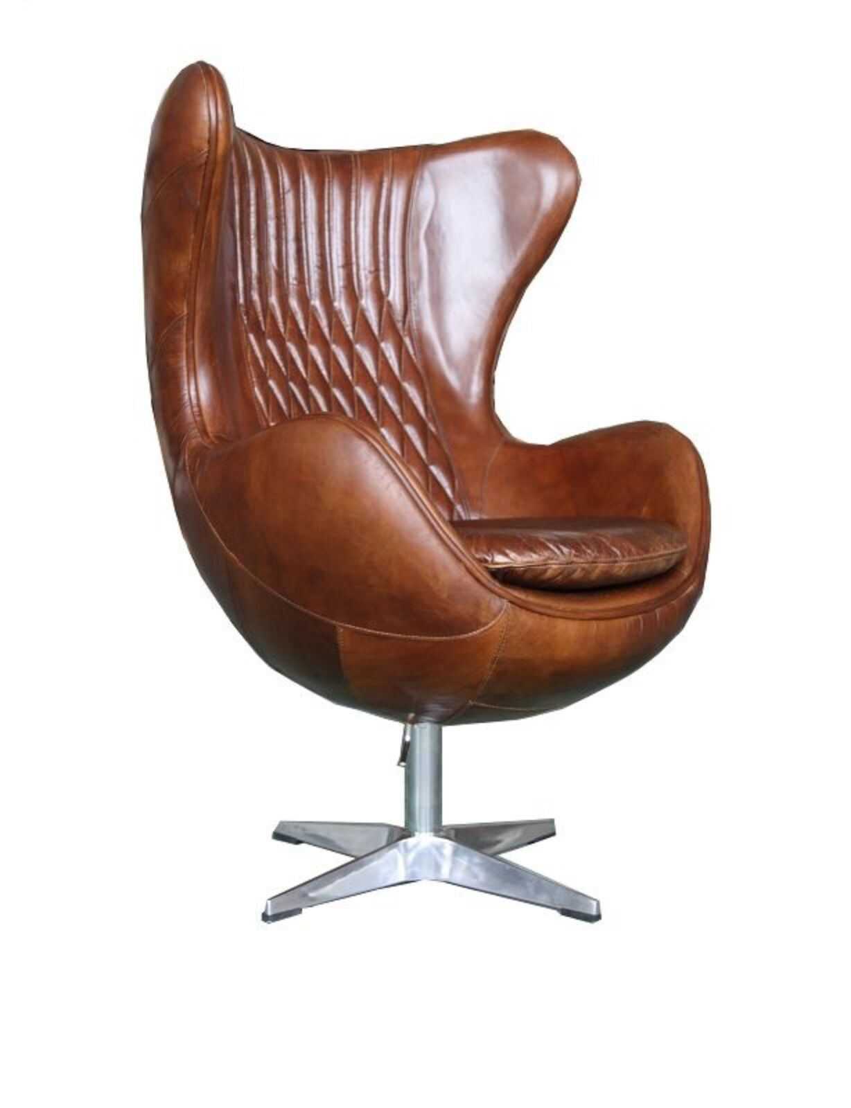 distressed leather armchair uk rocky mountain folding chairs aviator retro swivel egg vintage