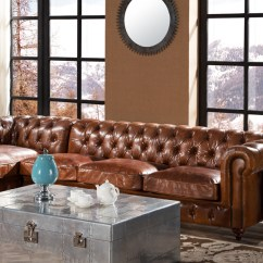 Distressed Leather Corner Sofa Uk How To Protect Fabric Chesterfield Vintage Buttoned Designer Sofas 4u