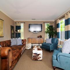 Chesterfield Sofa Living Room Ideas Leather Electric Recliner Corner Decorating Around A Brown