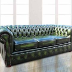 Chesterfield Sofa London Second Hand Cigar Ireland Uk Handcrafted At Designer Sofas 4u 3 Seater Antique Green Leather Settee Offer