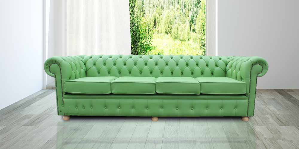 chesterfield sofa buy uk sectional sofas denver chesterfield-4-seater-settee-apple-green-leather-sofa ...