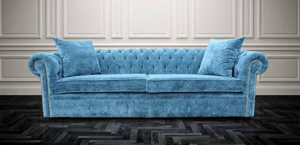 leather chesterfield sofa for sale la z boy mackenzie review buy teal blue velvet | designersofas4u