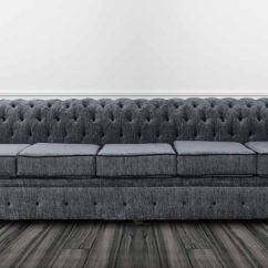 Chesterfield Sofa Material Cb2 Piazza Cover 5 Seater Settee Carlton Charcoal And Black Fabric