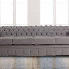 Fabric Chesterfield Sofa Bed Uk Conservatory Modular 8 Seater Rattan Corner Set Garden Furniture Buy Mist Grey Designersofas4u Balmoral 4 Settee Pimlico