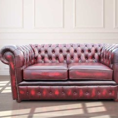 Oxblood Leather Wing Chair Director Covers Flat Stick Designersofas4u | Antique Chesterfield Sofa Uk