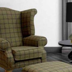Chesterfield Sofa Buy Uk 90 Wool Wing Chair In Grey Tartan Online