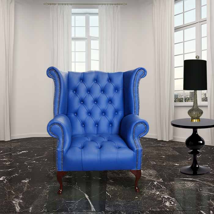 high back chesterfield sofa large deep sofas uk marine blue wing chair ...