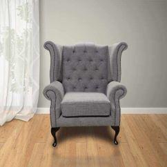 Chesterfield Corner Sofa Velvet Pottery Barn Slipcover Washing Instructions Verity Plain Steel Newby Wing Chair ...