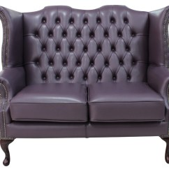 High Back Chesterfield Sofa Small Sectional Sleeper Purple 2 Seater Wing Designersofas4u Queen Anne Hemmingway Blueberry Leather