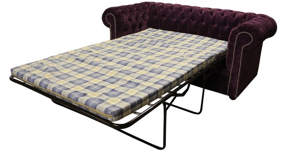 fabric chesterfield sofa bed uk corner covers uae buy luxury purple designersofas4u 2 seater velluto amethyst