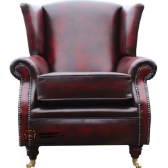 Oxblood Leather Wing Chair Staples Ergonomic Review Southwold Fireside High Back Armchair Antique