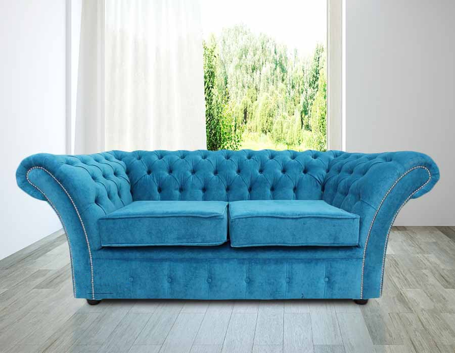 leather wing chair uk new york yankee rocking buy teal fabric chesterfield sofa at designersofas4u