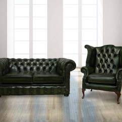 Chesterfield Sofa History Orange Leather Buy 2 Seater & Wing Chair Set|designersofas4u
