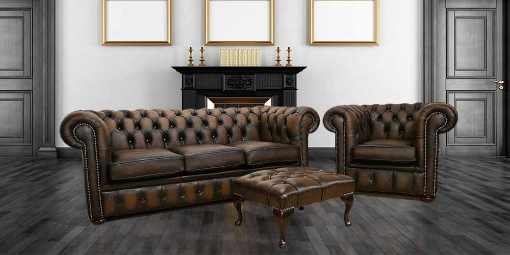 brown leather tub chair with footstool wicker accent chairs buy chesterfield furniture|made in england|designersofas4u