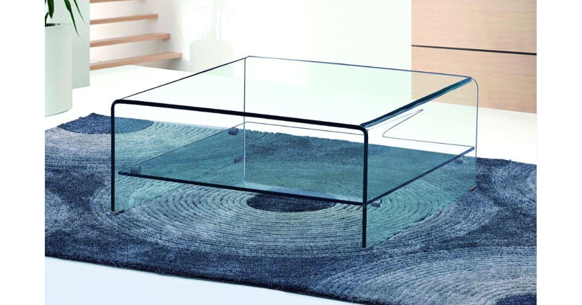 aria clear 12mm glass square coffee tables with shelf designer sofas4u