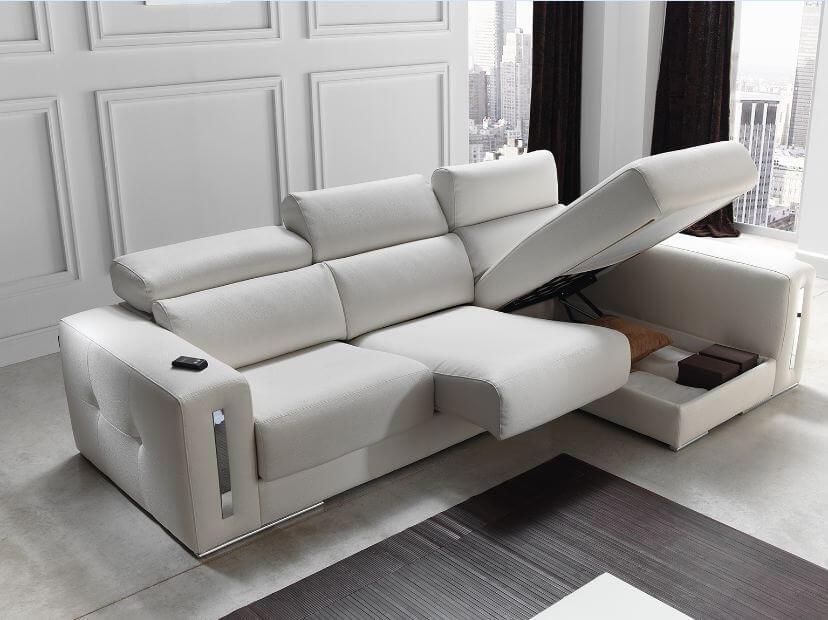 sabrina italian reclining leather corner group sofa blanco white