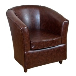 Leather Tub Chair Loose Covers Uk Bucket Infinity Tan Faux Mahogany 1 Seater