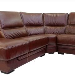 Genuine Leather Sofa Uk Size Of Small Bed Cerise 1 43 Corner Italian Tabak Brown