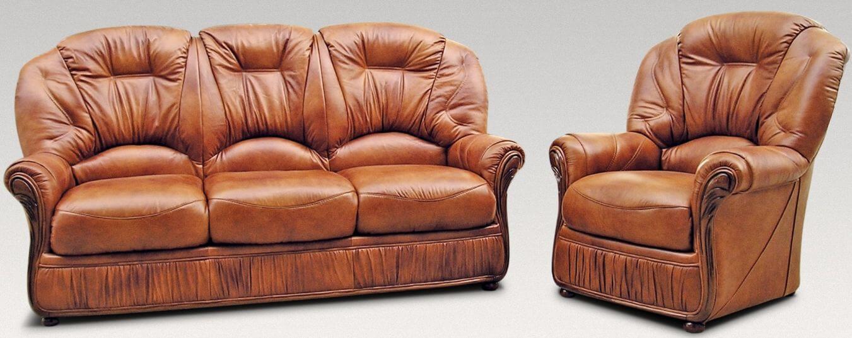 Debora 3 1 Genuine Italian Tan Leather Sofa Suite Offer