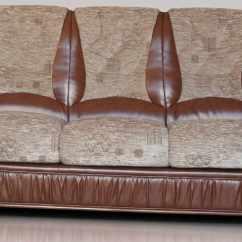 Tuscany 3 Seater Leather Sofa European Sleeper With Storage Emma Genuine Italian Brown Fabric
