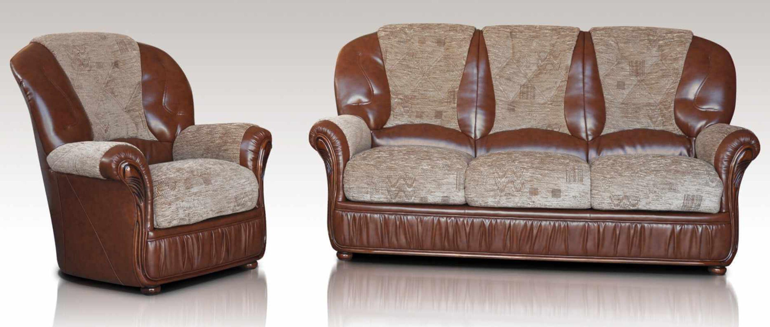 kansas 3 1 1 genuine italian brown leather fabric sofa suite offer