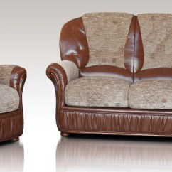 Brown Leather And Fabric Sectional Sofa Pottery Barn Care Emma 3 431 Genuine Italian Suite