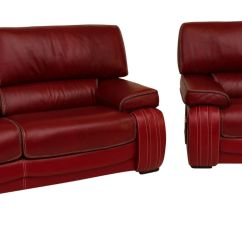 Red Leather Two Seater Sofa Ava Tufted Sleeper Uk Livorno 3 2 Genuine Italian Suite Firenze