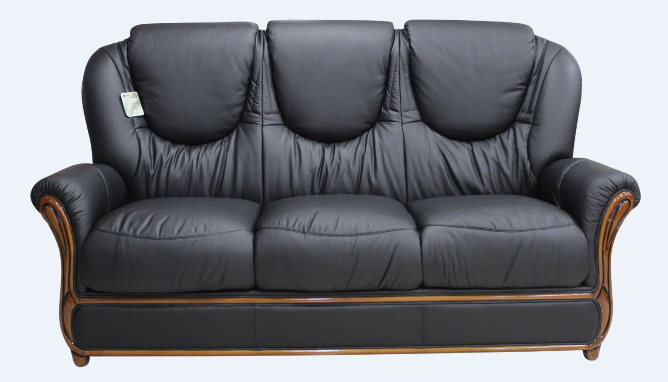 Often, owners of antiques are unsure how they can turn antique pieces into profit. Juliet Genuine Italian Leather 3 Seater Sofa Settee Black