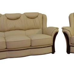 Genuine Leather Sofa Uk Empire Verona 3 431 Italian Cream Suite Offer