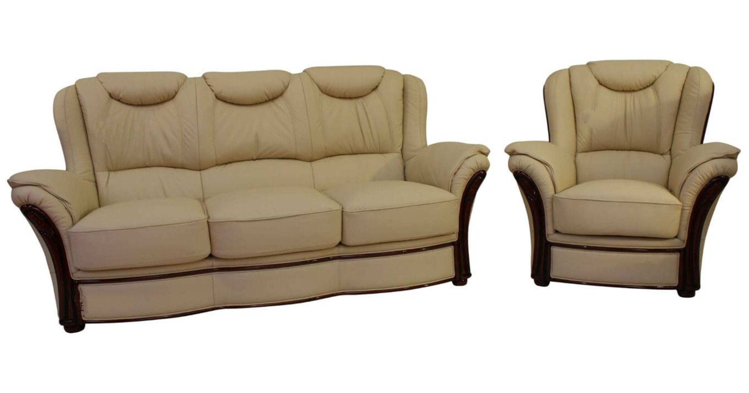 cream leather sofa set uk mickey mouse flip open with sleeping bag verona 3 431 genuine italian suite offer