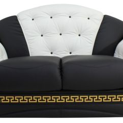 How To Deep Clean White Leather Sofa Set Double Color Versace 2 Seater Settee Genuine Italian Black ...