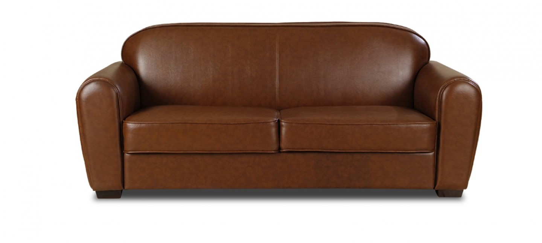 Canape Cuir Marron