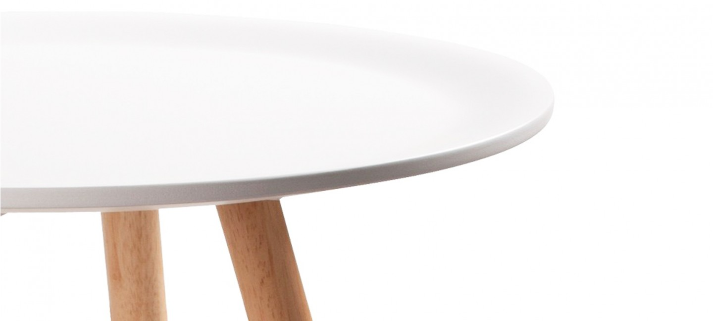 table cuisine ronde blanche