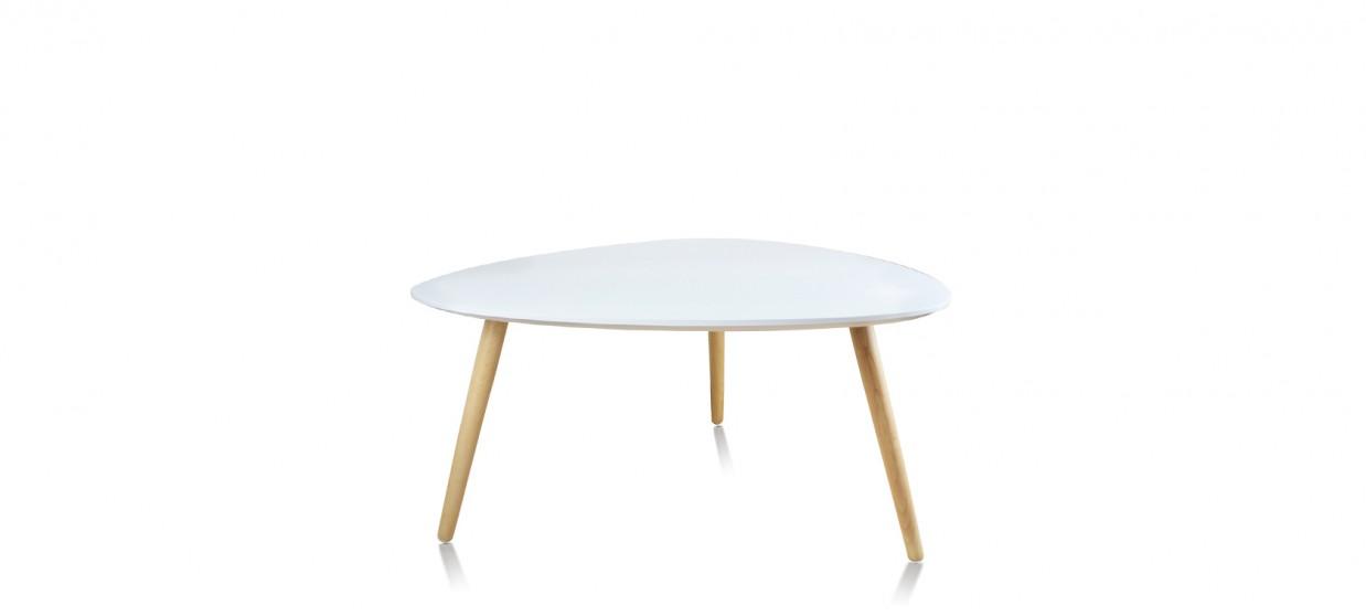 table basse scandinave ovale blanche pristina