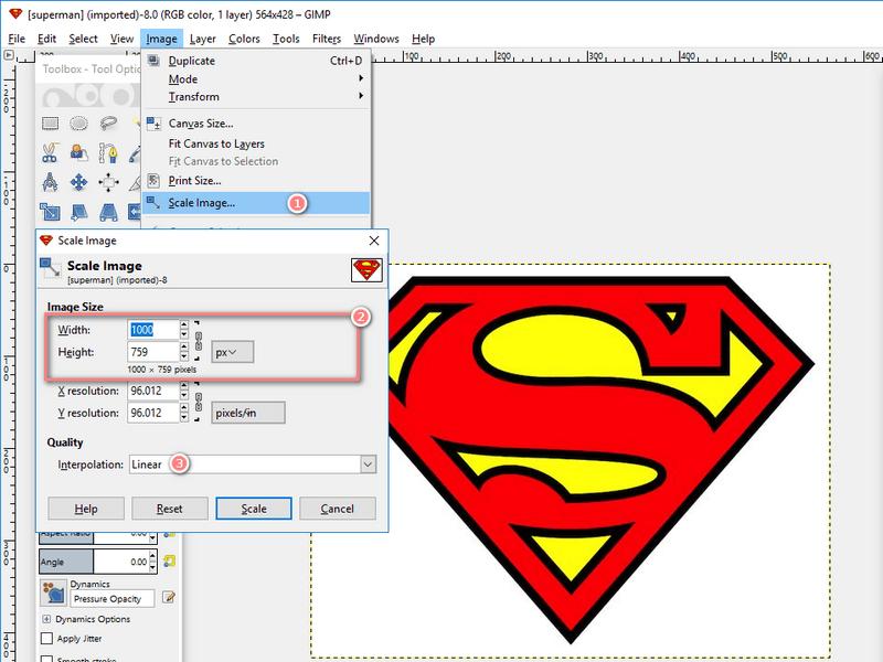 how to resize logo