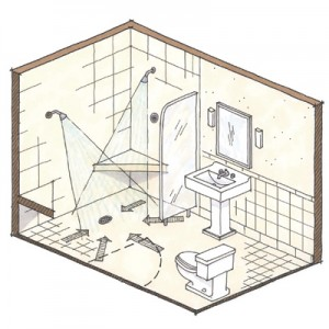 design a bathroom layout