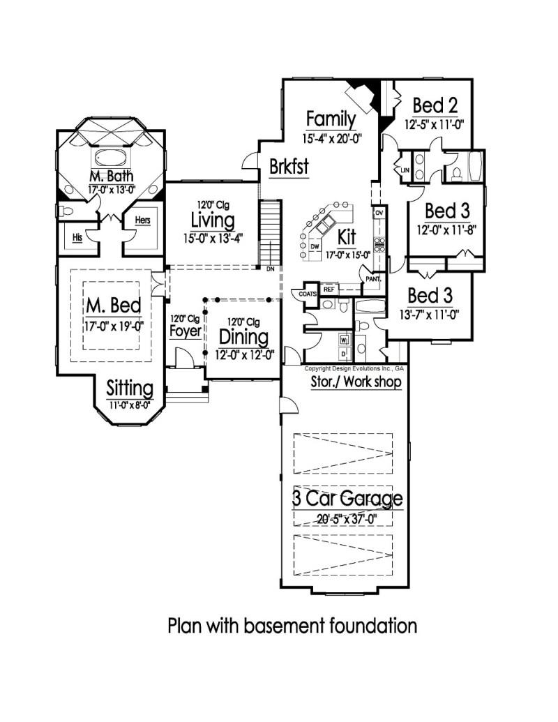 Polo house plan with basement option