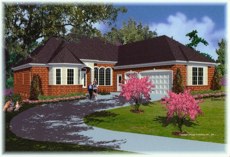 Polo house plan rendering
