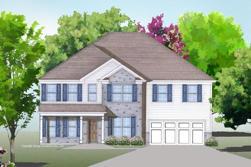 Westlake house plan elevation render