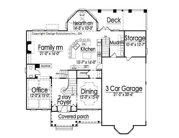 Cashton first floor plan