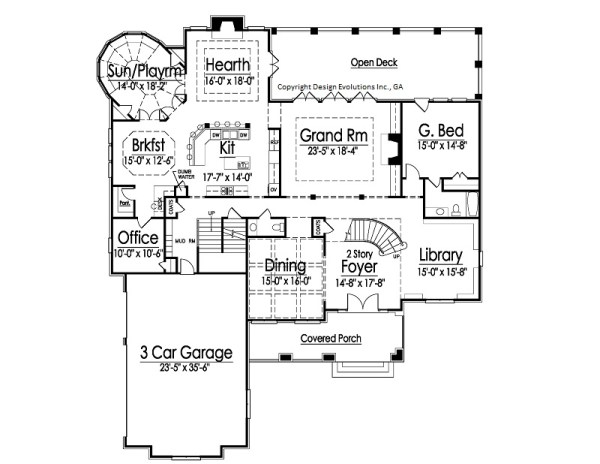 Rossi first floor plan