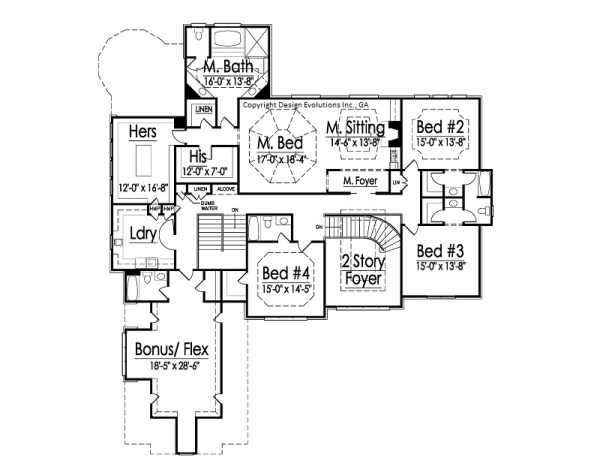 Rossi second floor plan